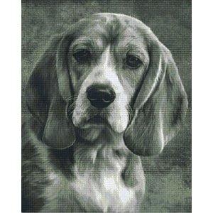 PixelHobby Pixelhobby patroon 836025 Beagle zwart wit