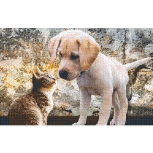 PixelHobby Pixelhobby patroon 5474 Puppy met Kitten