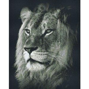 PixelHobby Pixelhobby patroon 836023 leeuw zwart wit