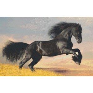 PixelHobby Pixelhobby patroon 820024 Zwart Paard