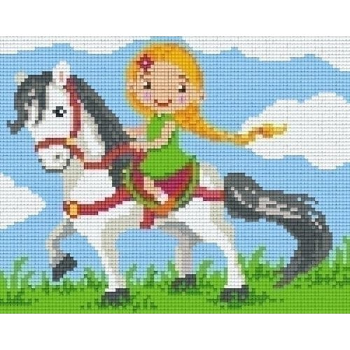 PixelHobby Pixelhobby patroon 804393 Paardrijden