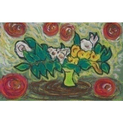 PixelHobby Pixelhobby patroon 5445 Schilderij met bloemen