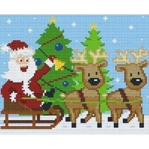 PixelHobby Pixelhobby patroon 804423 Kerstman Rendieren