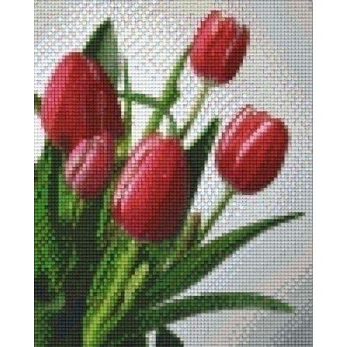 PixelHobby Pixelhobby patroon 804015 Roze rode tulpen