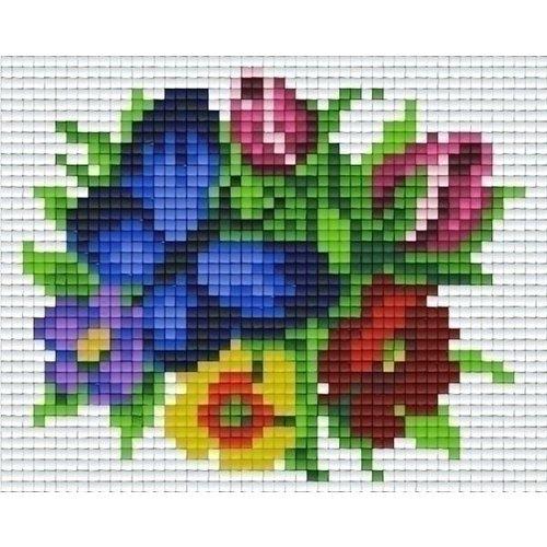PixelHobby Pixelhobby patroon 801334 vlinder op bloemen