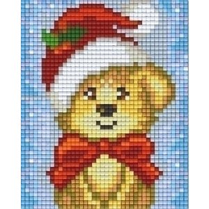 PixelHobby Pixelhobby patroon 801421 Hond met Kerstmuts