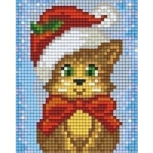 PixelHobby Pixelhobby patroon 801422 kat met kerstmuts