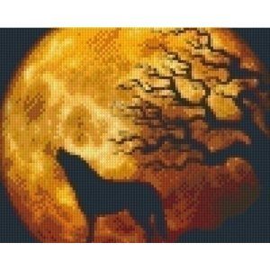 PixelHobby Pixelhobby patroon 5270 Wolf in maanlicht