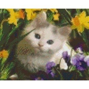 PixelHobby Pixelhobby patroon 5235 Kat tussen de bloemen