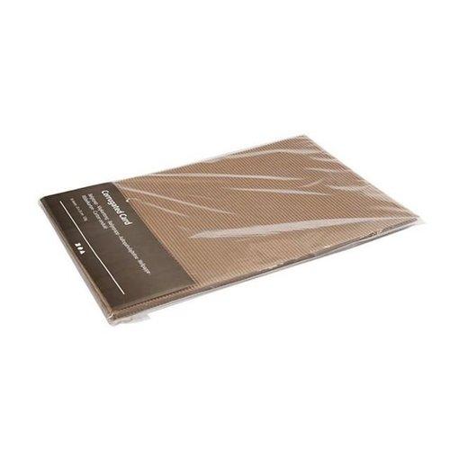 Bruin Ribbelkarton 10 vellen 23 x 35 cm 120 gram