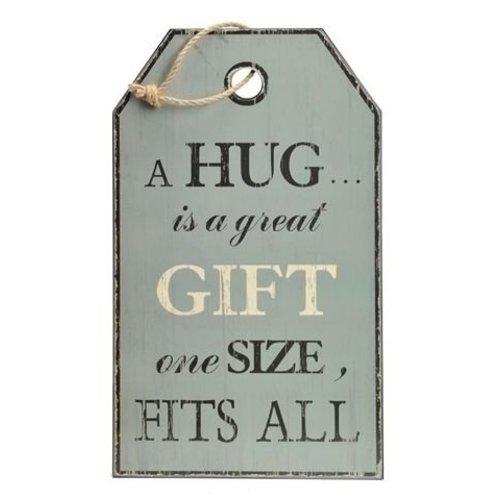 Houten tekstbord Label Hug