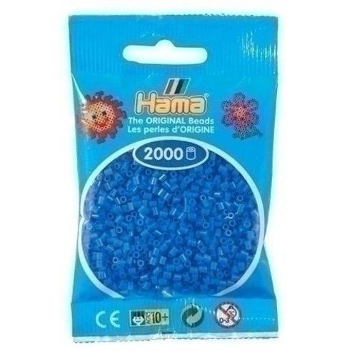 Hama Hama mini strijkkralen lichtblauw 0009