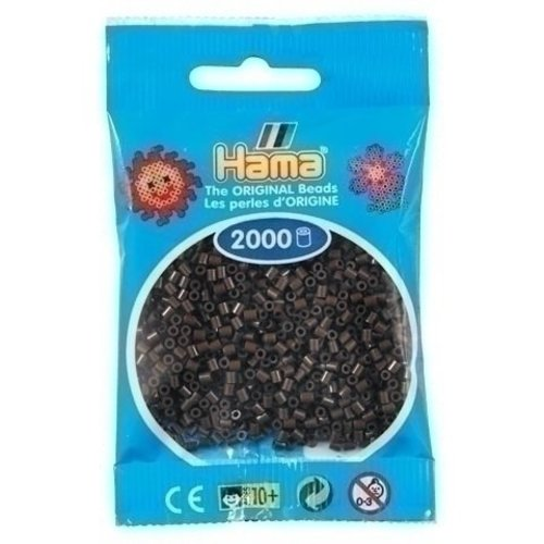 Hama Hama mini strijkkralen choco 0012