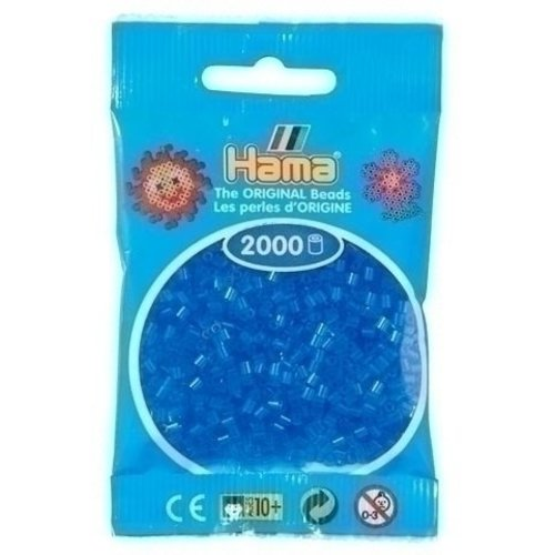 Hama Hama mini strijkkralen blauw doorzichtig 0015