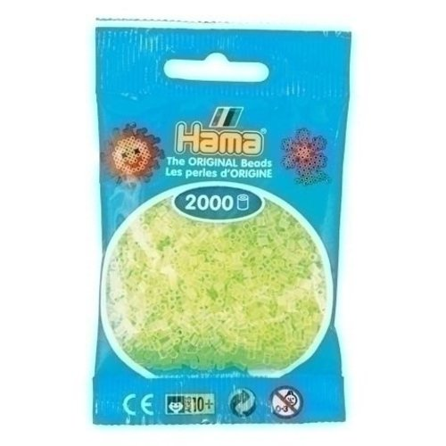 Hama Hama mini strijkkralen geel neon 0034