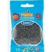 Hama mini strijkkralen donkergrijs 71