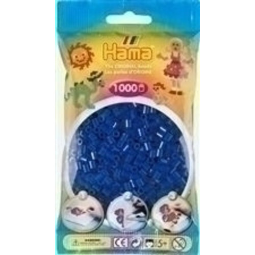 Hama Hama Strijkkralen 0008 donkerblauw 1000 st.