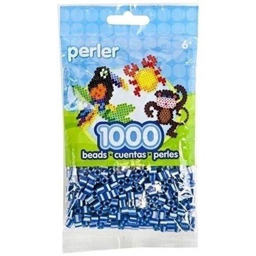 Perler Perler strijkkralen 1000 st Royal Blue Pearl Striped 15143