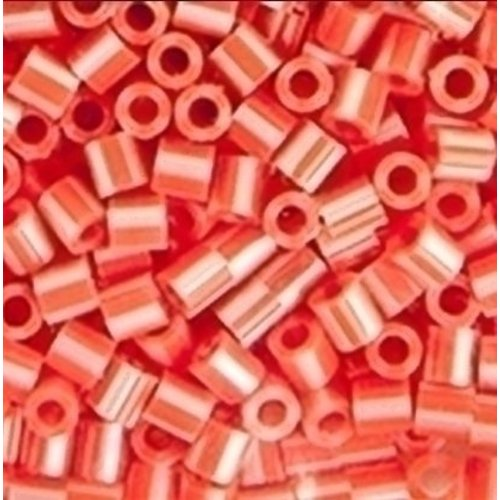 Perler Perler strijkkralen 1000 st Hot Coral Pearl Striped 15148