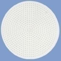 Hama strijkkralen Grondplaat Rond groot wit 221