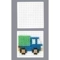Strijkkralen grondplaat vierkant klein wit 220