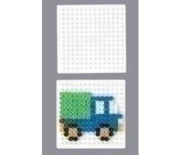 Hama Strijkkralen grondplaat vierkant klein wit 220