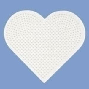 Hama Hama strijkkralen Grondplaat Hart groot wit 233