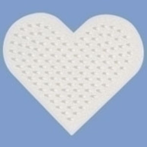 Hama Hama Strijkkralen Grondplaat Hart klein wit 236