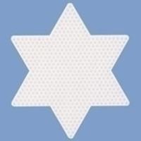 Hama Strijkkralen Grondplaat Ster groot wit 269