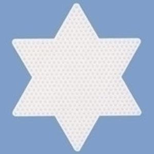 Hama Hama Strijkkralen Grondplaat Ster groot wit 269