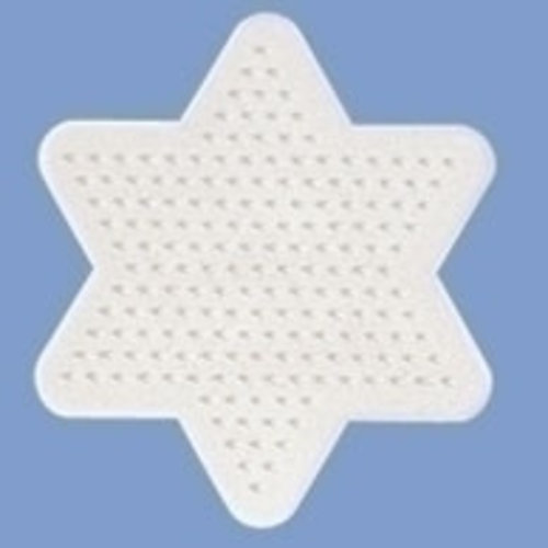 Hama Hama Strijkkralen Grondplaat Ster klein wit 270