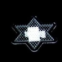 Strijkkralen grondplaat ster transp klein 2700