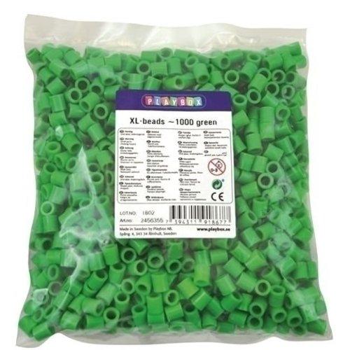 Playbox Playbox XL Strijkkralen Groen 1000 stuks