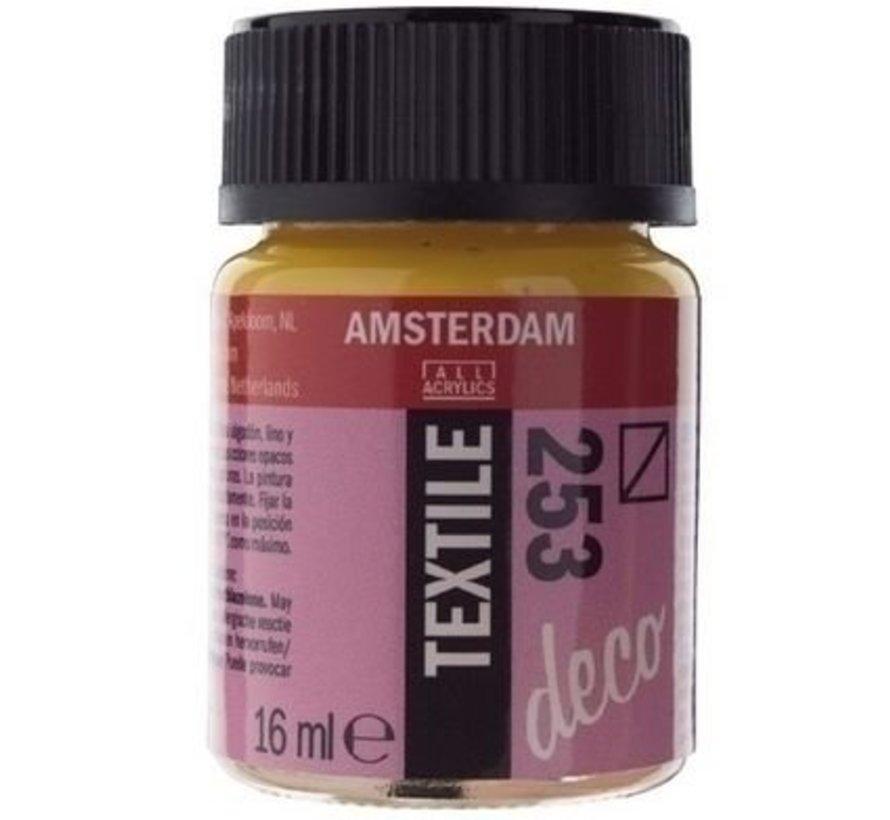 Amsterdam Deco Textielverf 16 ml - 253 Goudgeel