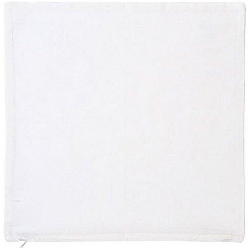 Eduplay Katoenen kussensloop met rits wit 40 x 40 cm