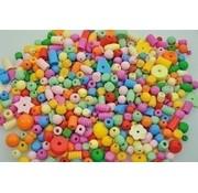 Playbox Playbox houten kralen pastelkleuren 250 gram