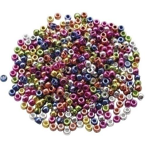 Playbox Plastic Kongo rijgkralen metallic 1000 st 2470751