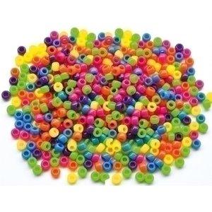Playbox Plastic Kongo rijgkralen neon 1000 stuks 2470750