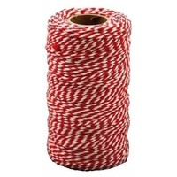 Katoenkoord rood wit 2 mm x 100 meter