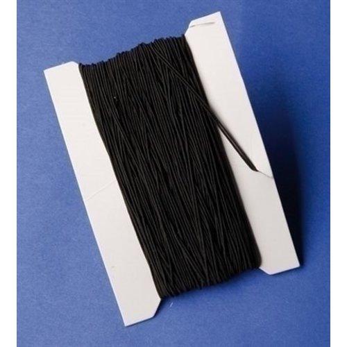Playbox Zwart elastisch rijgkoord 50 meter 1 mm dik