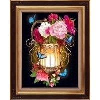 Diamond Painting Lantern and Peonies AZ-1720