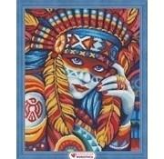 Artibalta Artibalta Diamond Painting Beautiful Squaw AZ-1590