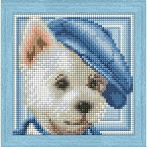 Artibalta Artibalta Diamond Painting Dog with hat AZ-1570