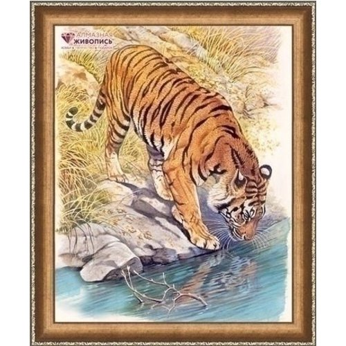 Artibalta Diamond Painting Tiger near the River AZ-1523