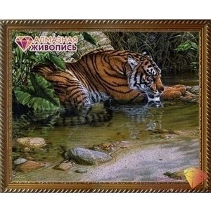 Artibalta Diamond painting Tijger in de Jungle AZ-1412