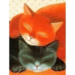 Artibalta Diamond painting kit Sleeping Cats AZ-1306