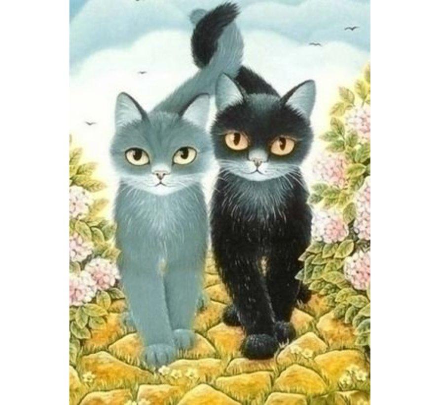 Artibalta DIY Diamond painting Katten AZ-1301