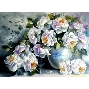 Artibalta Diamond painting kit White Roses AZ-1203 Artibalta