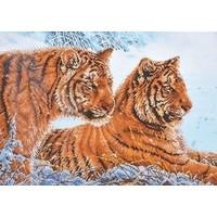Diamond Dotz Tigers in the Snow DD12.026