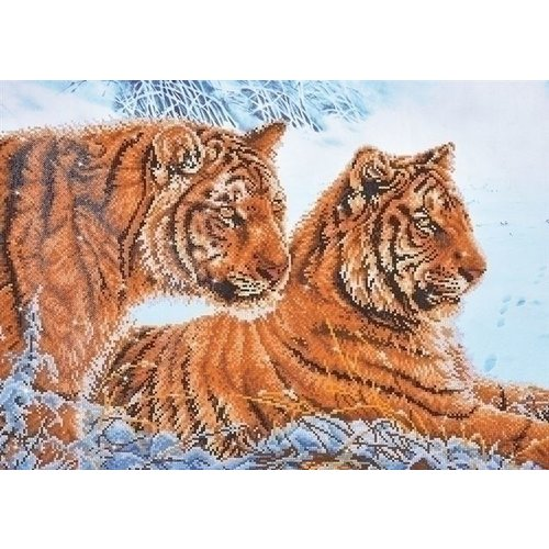 Diamond Dotz Diamond Dotz Tigers in the Snow DD12.026